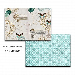 Papericious Decoupage Paper Pack  - Fly Away (A4) - 2 sheets