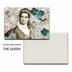 Papericious Decoupage Paper Pack  - The Queen (A4) - 2 sheets