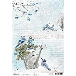 Ciao Bella Rice Paper A4 - Blue Jay