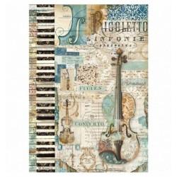 Stamperia Rice Paper A4 - Violin