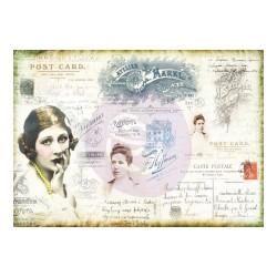 Prima Marketing Finnabair Mixed Media Tissue Paper 27.5X19.7 6/Pkg - Carte Postale