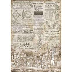 Stamperia Rice Paper A3 - The Traveler Sir Vagabond