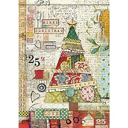 Stamperia Rice Paper A4 - Patchwork Tree