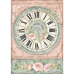Stamperia Rice Paper A4 - Clock