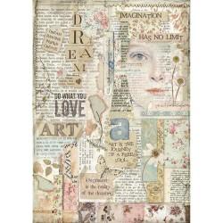 Stamperia Rice Paper A4 - Love Art