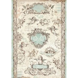 Stamperia Rice Paper A4 - Angel Tags