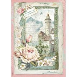 Stamperia Rice Paper A4 - Castle Fantasy