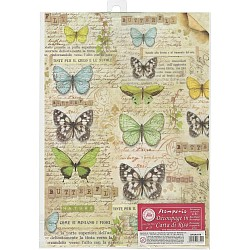 Stamperia Rice Paper A4 - Butterfly