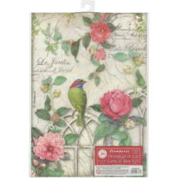 Stamperia Rice Paper Pack A4 - Gate with Bird