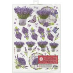 Stamperia Rice Paper Pack A4 - Lavendar