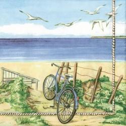 German Decoupage Napkins (5 pcs)  - Beach Bicycle