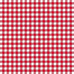 A pack of 12 by 12 inch German Decoupage Napkins (5 pcs)  - Red Checkered Background