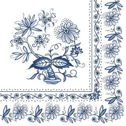 German Decoupage Napkins (5 pcs)  - Blue ethnic Print