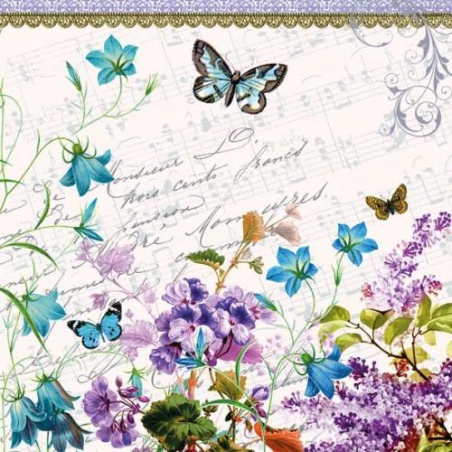 German Decoupage Napkins (5 pcs)  - Romantic Flowers
