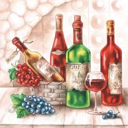 German Decoupage Napkins (5 pcs)  - Wine Cellar