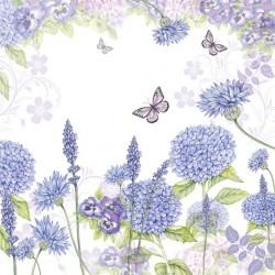 German Decoupage Napkins (5 pcs)  - Purple Wild Flowers