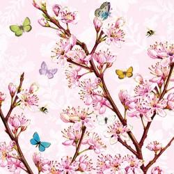 German Decoupage Napkins (5 pcs)  - Blossom Rose