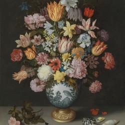 German Decoupage Napkins (5 pcs)  - Black Florals