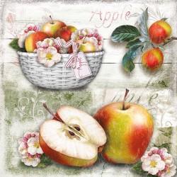 German Decoupage Napkins (5 pcs)  - Apple Basket Fruits