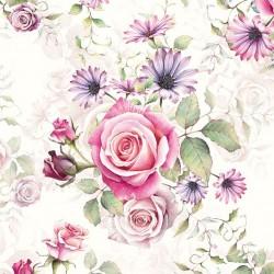 German Decoupage Napkins (5 pcs)  - Madeline Roses