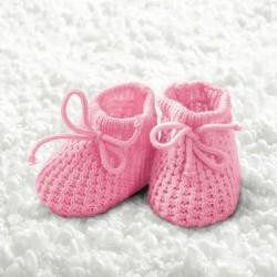 German Decoupage Napkins (5 pcs)  - Baby Girl Booties