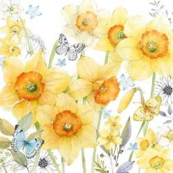 German Decoupage Napkins (5 pcs)  - Classic Daffodils