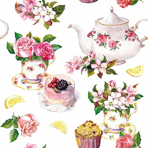 German Decoupage Napkins (5 pcs)  - Flower in Teacup