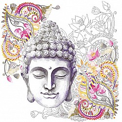 German Decoupage Napkins (5 pcs)  - Buddha Headstone