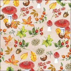 German Decoupage Napkins (5 pcs)  - Autumn Pattern