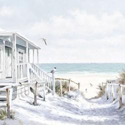 German Decoupage Napkins (5 pcs)  - Beach Cabin