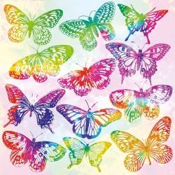 German Decoupage Napkins (5 pcs)  - Aquarelle Butterflies Mix