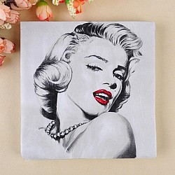 A pack of 12 by 12 inch Decoupage Napkins(5 pcs)  - Marilyn Monroe