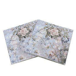 A pack of 12 by 12 inch Decoupage Napkins(5 pcs)  - Vintage Floral Background