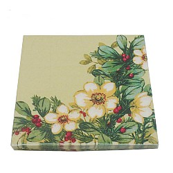 A pack of 12 by 12 inch Decoupage Napkins(5 pcs)  - Cream flowers with Berries