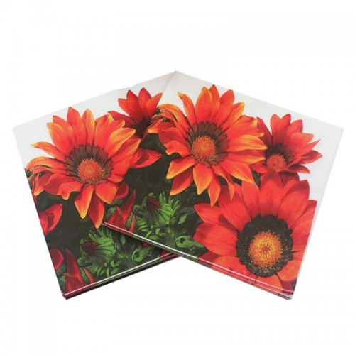 A pack of 12 by 12 inch Decoupage Napkins(5 pcs)  - Bright Sunflowers