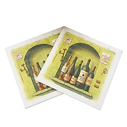 A pack of 12 by 12 inch Decoupage Napkins(5 pcs)  - Vintage Bottles
