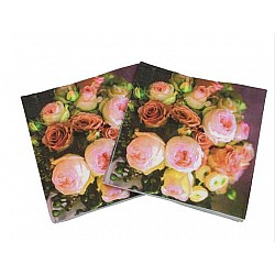 A pack of 12 by 12 inch Decoupage Napkins(5 pcs)  - Black floral Background