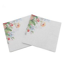 A pack of 12 by 12 inch Decoupage Napkins(5 pcs)  - Simple striped Floral Background