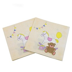 A pack of 12 by 12 inch Decoupage Napkins(5 pcs)  - Baby Toys