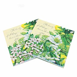 A pack of 12 by 12 inch Decoupage Napkins(5 pcs)  - Beautiful Flowers