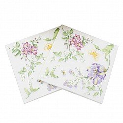 A pack of 12 by 12 inch Decoupage Napkins(5 pcs)  - Spring flowers
