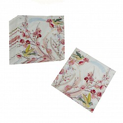 A pack of 12 by 12 inch Decoupage Napkins(5 pcs)  - Spring Floral Scene