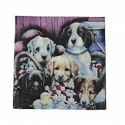 A pack of 12 by 12 inch Decoupage Napkins(5 pcs)  - Adorable Dogs