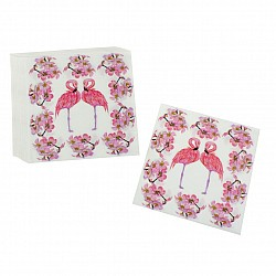A pack of 12 by 12 inch Decoupage Napkins(5 pcs)  - Flamingos