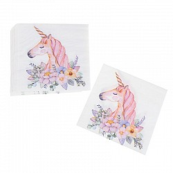 A pack of 12 by 12 inch Decoupage Napkins(5 pcs)  - Unicorns