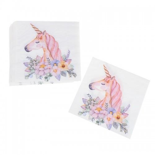 A pack of 12 by 12 inch Decoupage Napkins(5 pcs)  - Unicorns