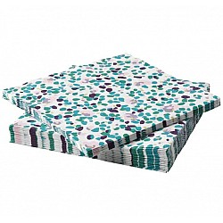 A pack of 12 by 12 inch Decoupage Napkins (5 pcs)  - Colorful Dots
