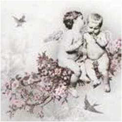 A pack of 12 by 12 inch Decoupage Napkins(5 pcs)  - Angels