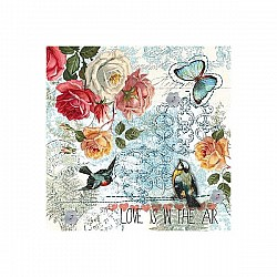 A pack of 12 by 12 inch Decoupage Napkins(5 pcs)  - Love Is In the Air