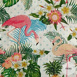 A pack of 12 by 12 inch Decoupage Napkins(5 pcs)  - Tropical Pattern